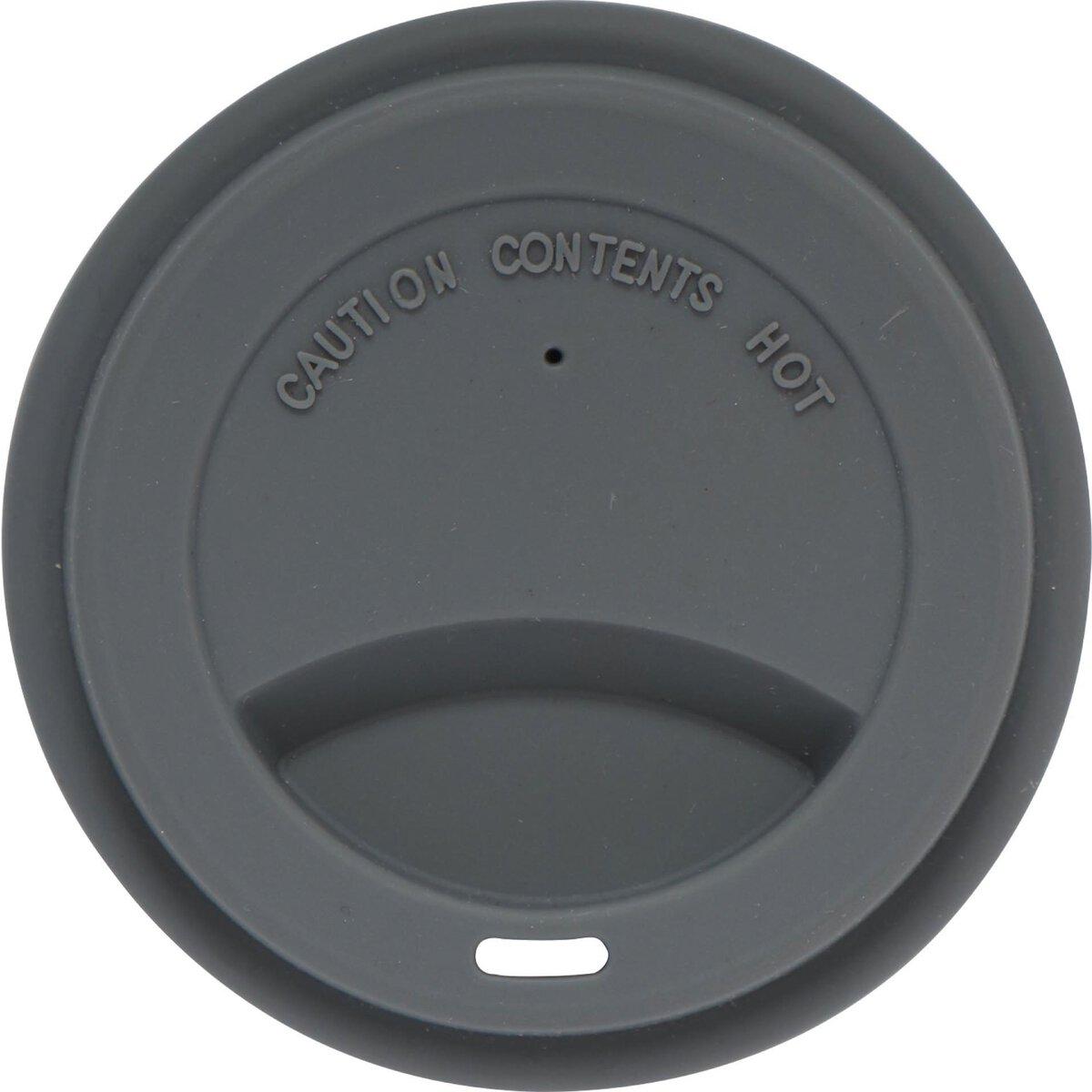 Silikondeckel für Coffee to Go Becher grau, zu 0,3 L (2)