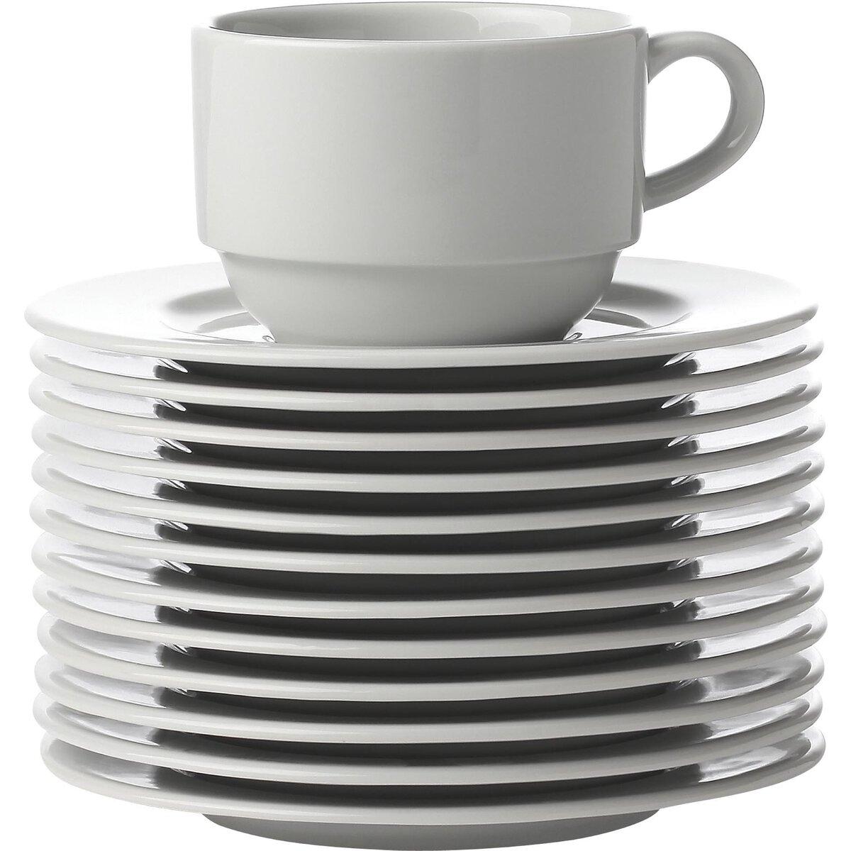 Tasse untere Ø 15 cm weiß (1)
