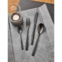 "Besteckserie ""MiCo Mixed Colors"" satin Kuchengabel ""Negro"" (4)"